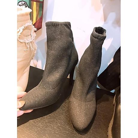 giày boots nhũ ánh kim tuyến cao gót 1