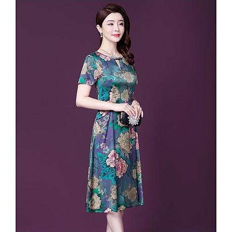 Đầm Quý Bà Họa tiết Hoa Sang Trọng - Hàng nhập HATI - DQB846 3