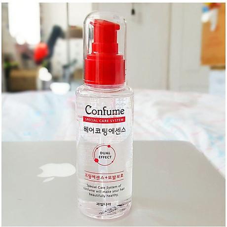 [Tặng móc khoá] Tinh dầu dưỡng tóc thảo dược phục hồi tóc hư tổn Confume Coating Essence 100ml 5