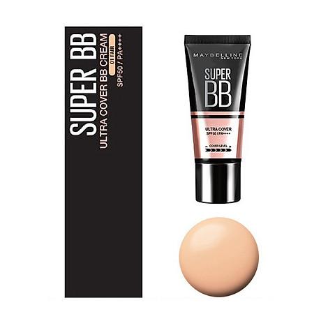 Kem Nền Maybelline Super BB Ultra Cream Cover SPF50 PA++++ 30ml Trang Điểm Hoàn Hảo PM711 3