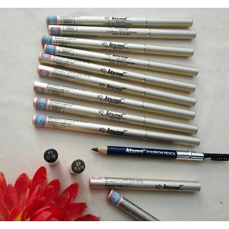 Chì vẽ mày sắc nét Aroma Eyebrow Pencil Hàn Quốc No.11 Balck tặng kèm móc khoá 3