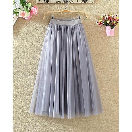 Chân váy midi tulle dài 4