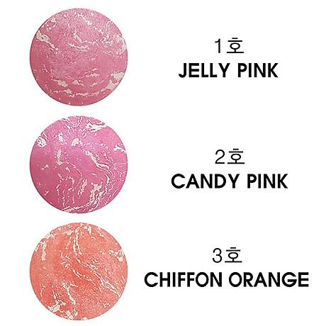 Phấn Má Hồng Mira Crystal Flower Art Blusher Hàn Quốc 10g No.1 Jelly Pink tặng kèm móc khóa 4