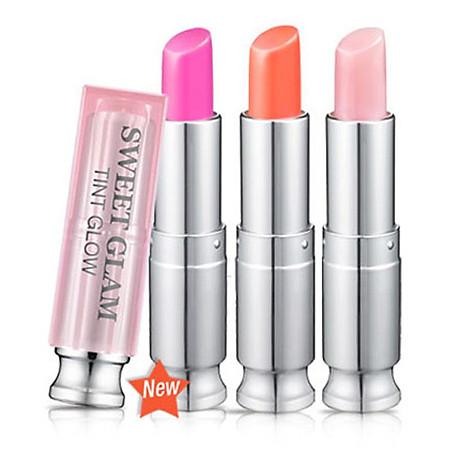 Set 3 son dưỡng môi có màu mini Secret Key Sweet Glam Tint Glow - Mini Kit (Baby Pink, Juicy Orange, Punky Pink) 6