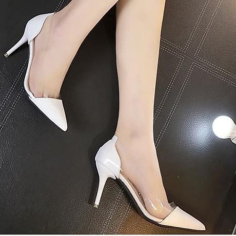 Giày cao gót mũi nhọn trong suốt 7 phân - [GA013] 2