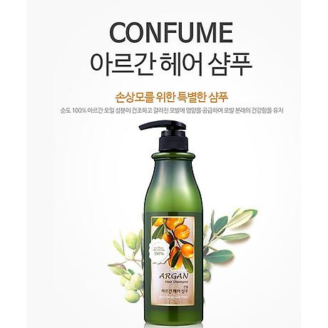 Dầu gội đầu Confume Argan Oil Hair tinh chất thảo dược Hàn Quốc 750ml + Móc khóa 2