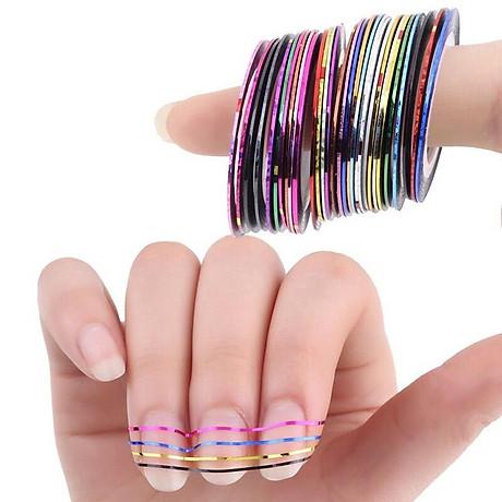 Set 10 cuộn băng keo trang trí móng DIY phong cách tao nhã - decal dán móng Nail nghệ thuật 5