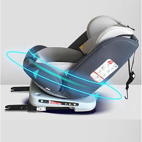 Ghế ô tô 2 chiều CHUẨN ISO 9001, điều chỉnh 4 tư thế từ nằm tới ngồi và có thể điều chỉnh độ cao 7 cấp cho bé từ 0-12 tuổi (xám) 1