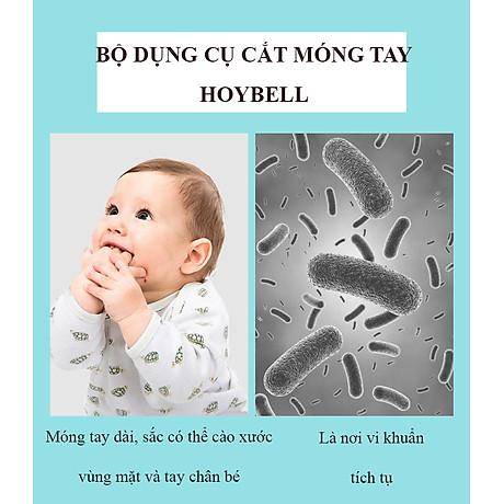 Bộ Dụng Cụ Chăm Sóc Móng Tay Chân Mũi Tai Cho Trẻ Sơ Sinh 4 Món ( Hộp Đựng Hình bầu dục) 4