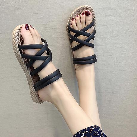 Dép sandal nữ quai chéo đế giả cói vintage siêu mềm êm chân CS1 4