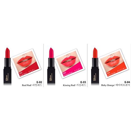 Son lì dưỡng, siêu mềm mượt Benew Perfect Kissing Hàn Quốc 3.5g E02 Real Red tặng kèm móc khóa 5