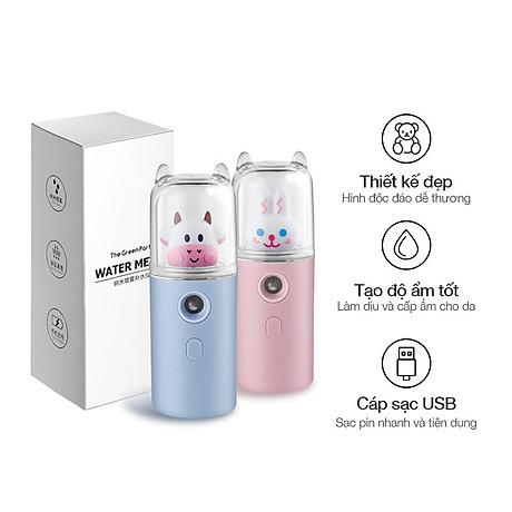Máy Phun Sương Nano Mini Cầm Tay Bò Sữa 30ml, Hỗ Trợ Xịt Khoáng Cấp Ẩm, Sạc USB Nhỏ Gọn Tiện Lợi 7