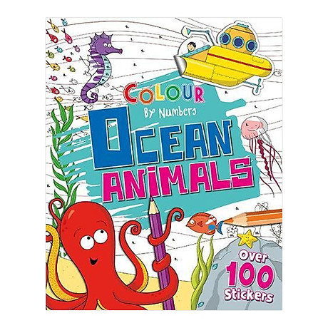 Colour By Numbers Ocean Animals 1