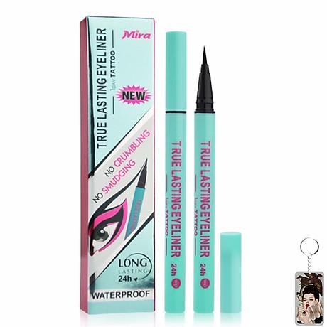 Viết lông kẻ mí Mira true lasting eyeliner Hàn Quốc 0.8 ml màu xanh tặng kèm móc khoá 1