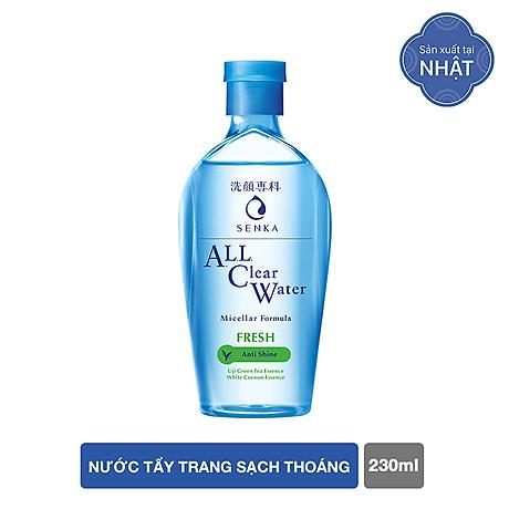 Nước tẩy trang sạch thoáng Senka A.L.L.Clear Water Fresh 230ml 1