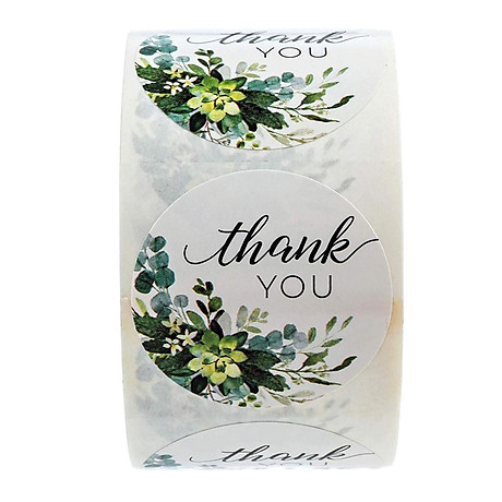 500pcs Per Roll Thank You Sealing Stickers Round Paper Labels Christmas Sticker 1