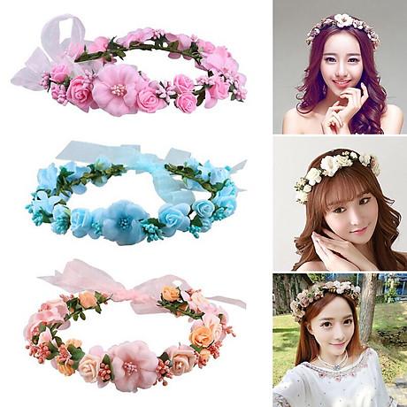 Băng đô đội đầu hình bông hoa cho bạn gái chụp kỷ yếu , trang điểm cô dâu Beety-919 3