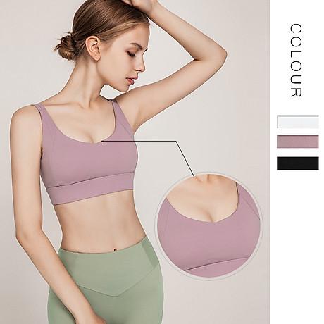Áo Bra thể thao nữ, áo tập Gym Yoga mềm mịn, có đệm, kiểu áo lót mỏng mã WX-042 7