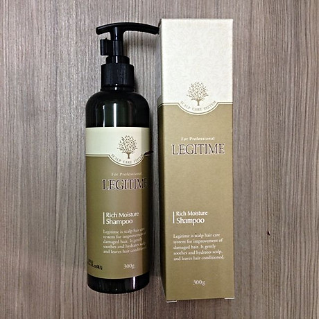 Dầu gội thảo dược Legitime Rich Moisture Shampoo sạch gàu Hàn Quốc 300ml Tặng Móc khóa 6
