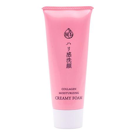 Sữa rửa mặt Nhật Bản ngăn ngừa lão hóa Naris Cosmetic Uruoi Collagen Moisturizing Creamy Foam 100g Hàng chính hãng 2