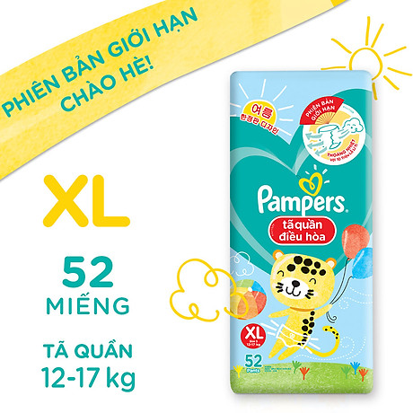 Tã Quần Pampers Điều Hoà Gói Lớn XL52 (12-17kg) 2