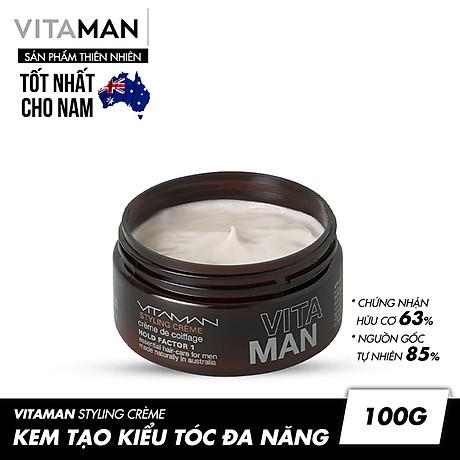 Kem Tạo Kiểu Tóc Vitaman Styling Crème 100g 3