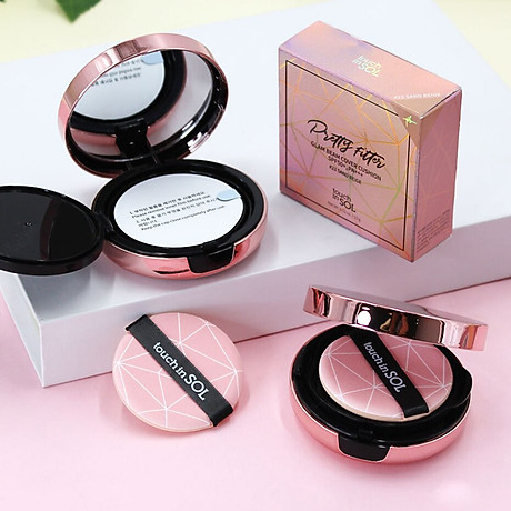 COMBO 2 Phấn Nước Touch-In-Sol Pretty Filler Glam Beam Cover Cushion + Tặng 1 son kem lì touch in sol 2