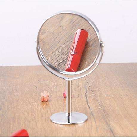 Gương trang điểm để bàn đứng thép không gỉ sang trọng 2