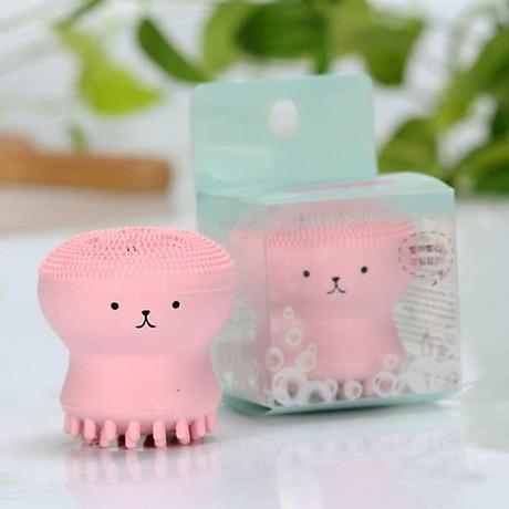Cọ Rửa Mặt Bạch Tuộc tặng giá đỡ điện thoại hình voi con cho bạn cảm giác Massage Thư giãn mọi lúc 4