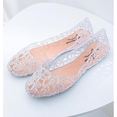 Giày búp bê nữ đế bằng nhựa đi mưa siêu bền đi thoáng và êm chân full size nhiều màu V217 2