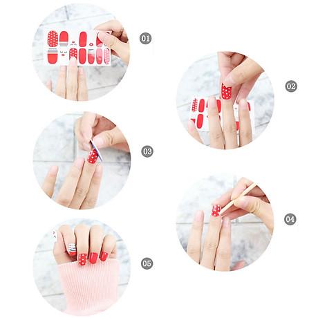 Nhãn dán làm đẹp móng tay (Kèm dũa và khăn) 5
