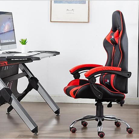 Ghế chơi game cao cấp chân xoay nghiêng ngả 360 độ, ngã 155 độ, có gác chân GX015-G 3