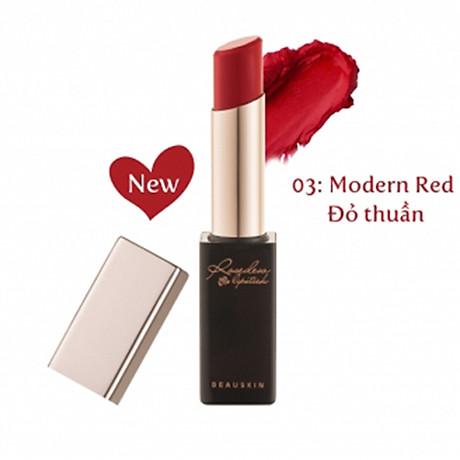 Son lì nhẹ môi Beauskin Rosedew Matte Creamy Hàn Quốc No.03 Đỏ thuần tặng kèm móc khóa 2
