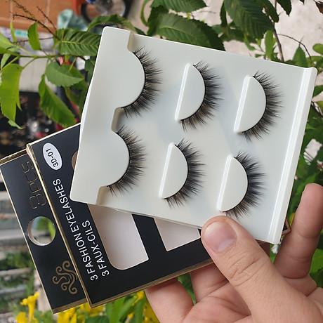 Lông mi giả lông chồn 3 Fashion Eyelashes 3 Faux-Cils 3D 1 bộ 3 cặp 3