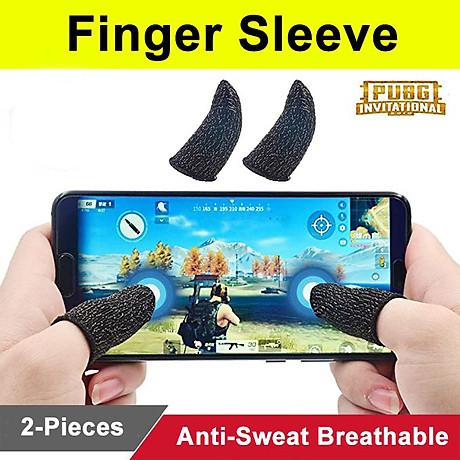 Bộ Găng tay chơi game cảm ứng bao ngón tay chống mồ hôi chống trượt 1