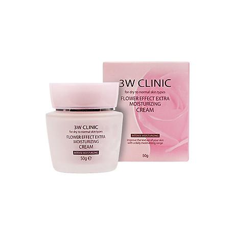 Kem dưỡng 3W Clinic Flower Effect Extra Moisturizing Cream 1