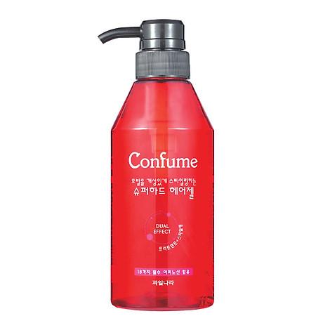 Gel đặc siêu cứng, khô nhanh giữ lọn xoăn Confume Super Hair Hàn Quốc 400ml + Móc khóa 2