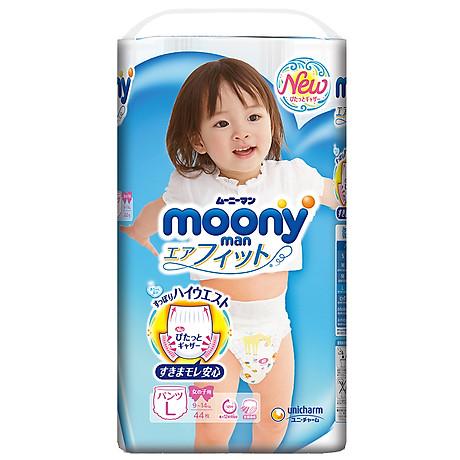 Tã Quần Cao Cấp Moony Nhật Bản Bé Gái L44 (44 Miếng) 2