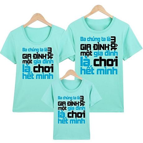 Áo thun nữ - áo gia đình in hình - GĐM14- Giá Trên là giá cho 1 chiếc áo 4