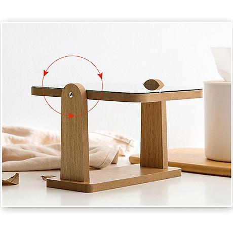 Gương trang điểm cao cấp chất liệu gỗ ép, điều chỉnh góc nhìn 360 độ loại lớn 3