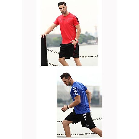 Bộ quần áo thể thao nam ngắn tay nhanh khô thể dục thể thao thoáng khí - NB001 8