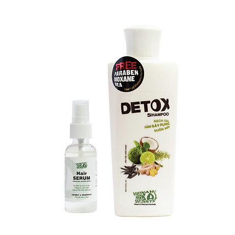Combo Dầu gội Detox và Hair Serum VIETNAM HERBAL SECRETS 2