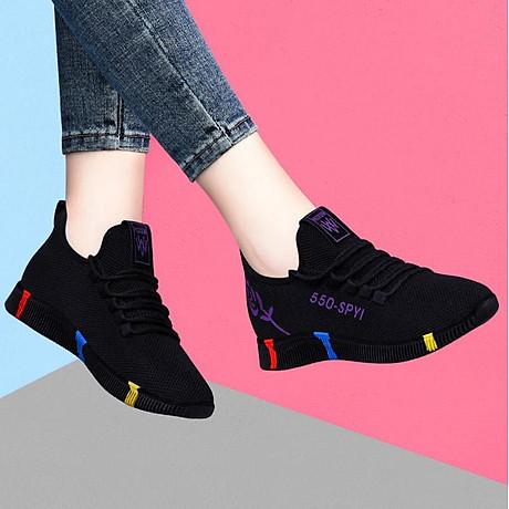 Giày sneaker nữ thời trang mới nhất buộc dây siêu nhẹ V245 6