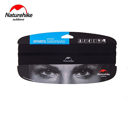 Băng đô Băng trán thể thao Headband NatureHike hàng chính hãng cho nam và nữ thấm hút mồ hôi nhanh 6