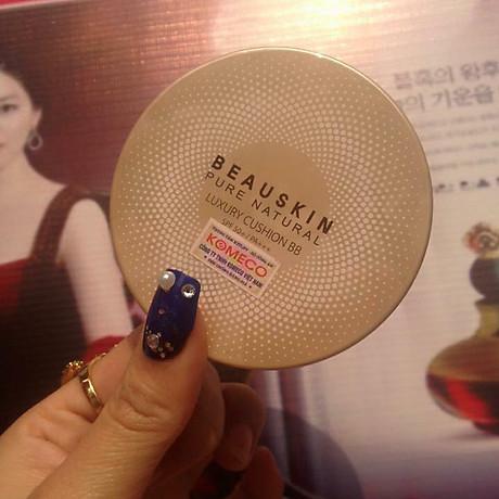 Phấn nước mỏng mịn, che phủ tốt Beauskin Luxury Cushion Hàn Quốc 2x11g (Thêm lõi) tặng kèm móc khóa cute 5