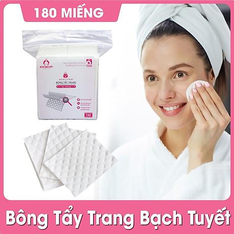 Bộ 2 gói Bông Tẩy Trang Bạch Tuyết Merilynn Hạt Massage (180 Miếng gói) 2