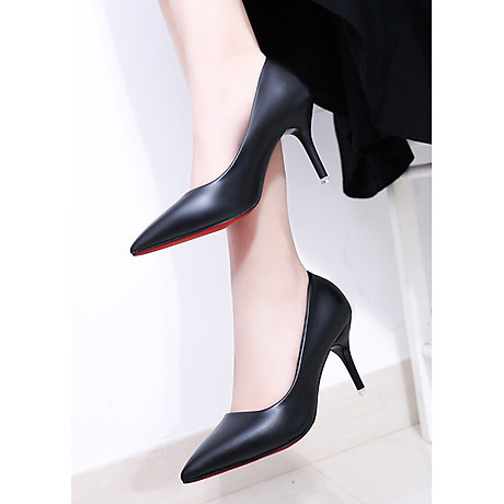 Giày cao gót nữ basic 7 phân da bò GCG03 3