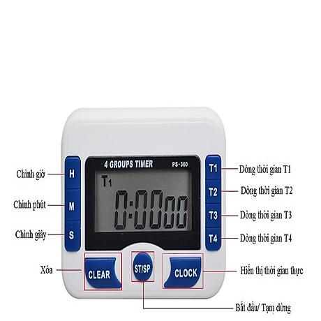 Đồng hồ bấm giờ có chế độ đếm ngược mini V2 (Tặng kèm miếng thép đa năng 11in1) 3