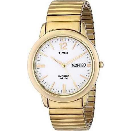 Timex Men s T21942 Chambers Street Gold-Tone Stainless Steel Expansion Band Watch 1