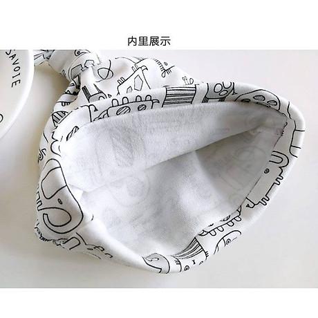 Set 3 Mũ Che Thóp Cho Trẻ Sơ Sinh 0-6 Tháng (Hàng Loại Tốt)- Họa Tiết Bé Trai 5